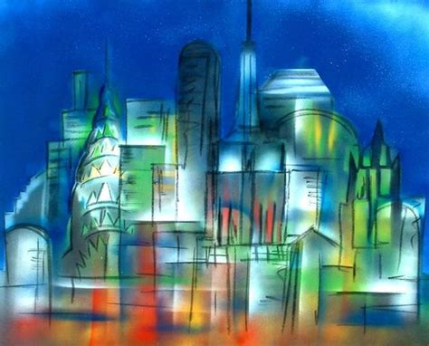 spray paint cityscape pin by bergen on my cityscapes