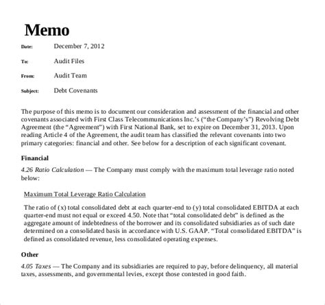 memo to file template 10 audit memo templates free sle exle format