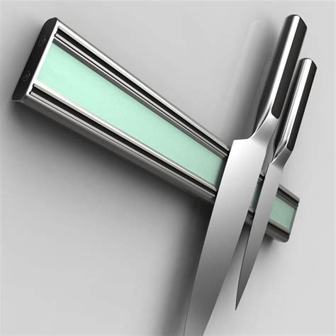 bisbell pro aluminum acrylic magnetic knife bar 12 inch