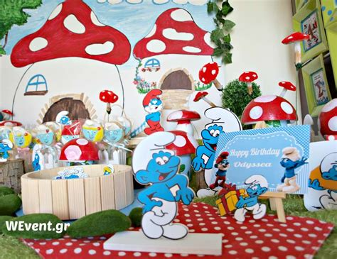 smurfs theme decorations southern blue celebrations smurf ideas