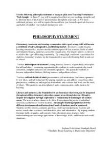 sample philosophy teaching statements elementary