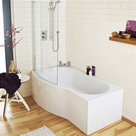 ct bath and shower alaska bathroom suite with b shaped shower bath plumbing