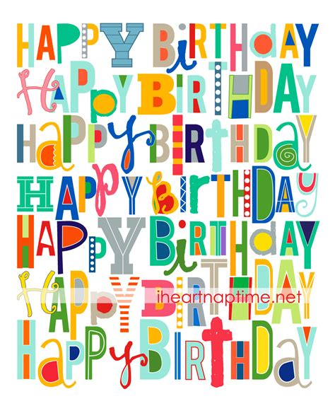 printable birthday cards pdf this print is perfect to use to add color to birthday