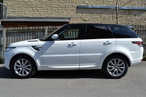 land rover sport white range rover sport gloss black roof wrap reforma uk