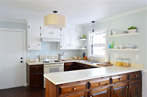 young house love kitchen cabinets painting our upper cabinets white young house love