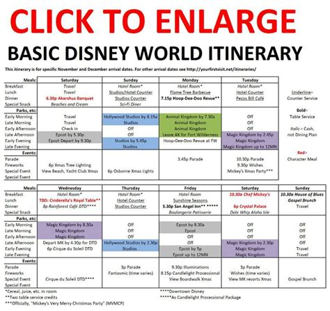 disney world itinerary template 9 best trip itinerary template images on