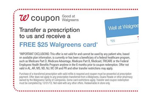 walgreens 25 prescription coupon printable