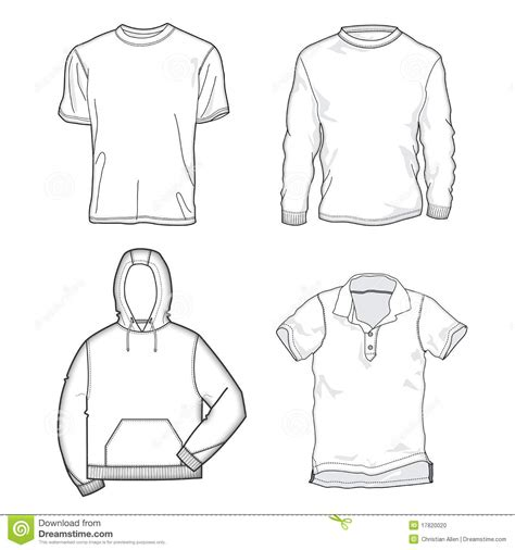 Shirt Templates Stock Vector Illustration Of Outfit 17820020 Fashion Design T Shirt Templates
