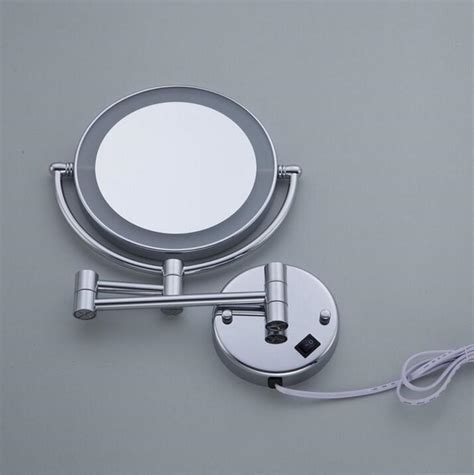 bathroom magnifying mirror with light bathroom chrome wall mounted 8 inch brass 3x 1x