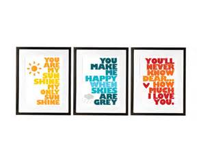 Ikea Paintings Items Similar To You Are My Sunshine Set Of Three Prints