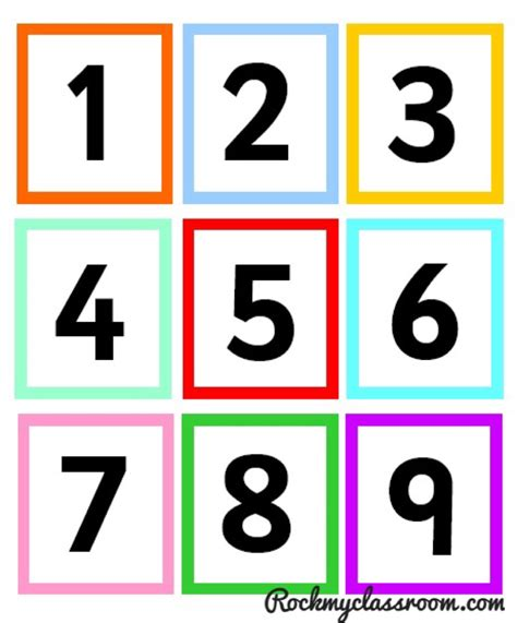 printable number cards 1 9 nifty numicon rock my classroom