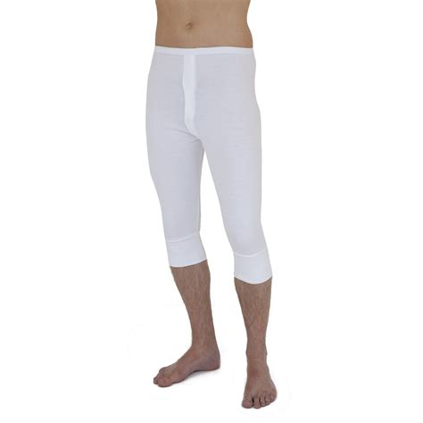 Longjohn Thermal mens thermal 3 4 length johns ebay