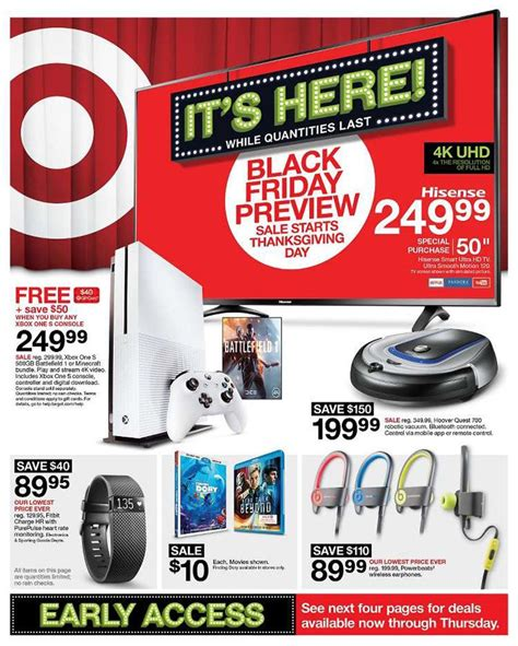 target black friday 2016 ad leaks iphone 7 xbox one s tv and other tech deals bgr
