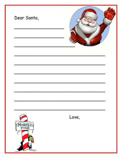 printable letter to santa for hayden s letter to santa