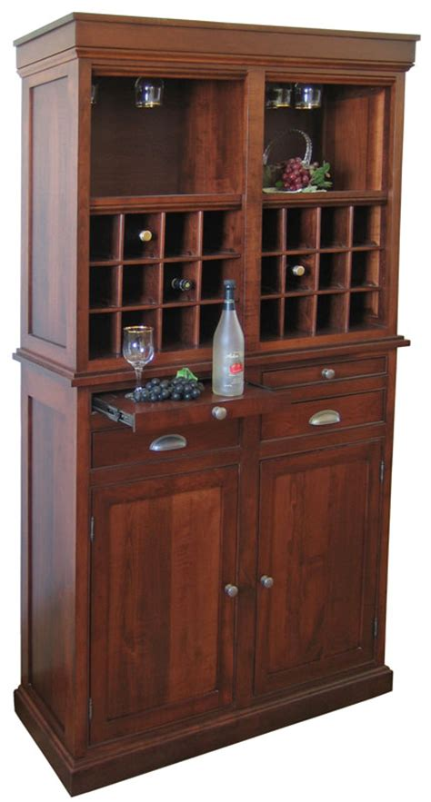 Wine Hutch Furniture 2 door wine hutch ohio hardwood furniture