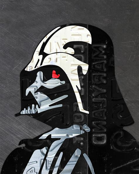 design darth vader helmet darth vader helmet star wars portrait recycled license
