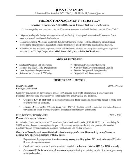 Product Executive Sle Resume by Product Manager Resume Sle Berathen