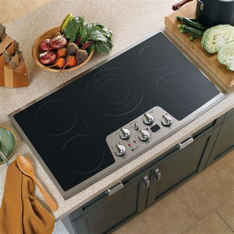 Built In Cooktop Ge Profile Pp962smss 36 Quot Built In Electric Cooktop