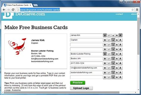 websites to make business cards best websites for business cards