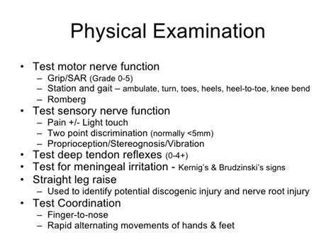 neurological examination physical diagnosis learning