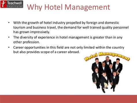 Mba In Hotel Management Scope by Hotel Management Entrance Preparation Coaching