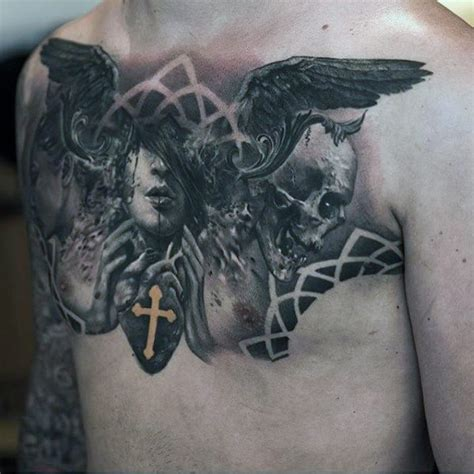 angel chest tattoos for men 75 remarkable tattoos for ink ideas with wings