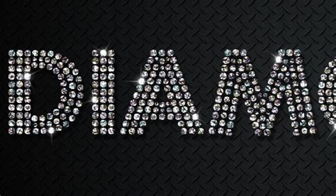diamonds testo how to create a sparkling diamonds text effect in