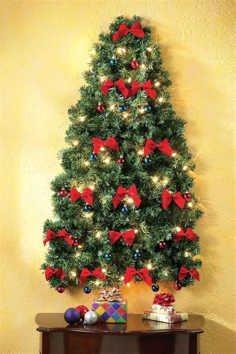 lighted christmas wall tree shop birling s for elegant