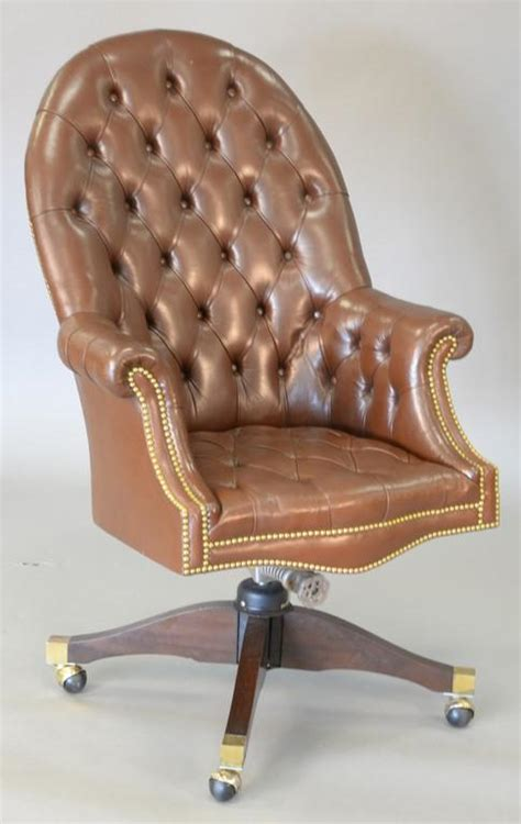 brown leather tufted office chair executive swivel office chair with brown tufted leather tot