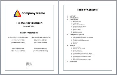 report layout template investigative report template sanjonmotel