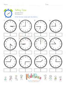 telling time quarter hour worksheet 4 kidspressmagazine com