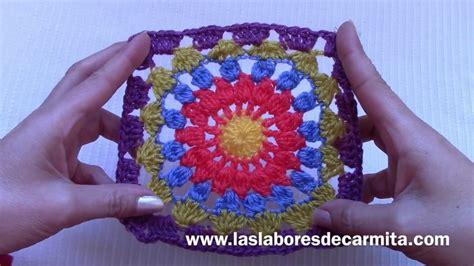 mandala pattern youtube crochet tutorial mandala cuadrado youtube