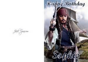 johnny depp birthday card personalised sparrow johnny depp birthday card ebay