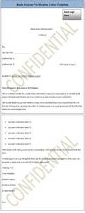 Bank Verification Letter Bank Account Verification Letter Template Sle Templates