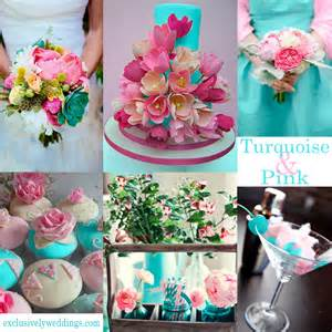 Turquoise And Pink Wedding Decorations by Turquoise Wedding Color Seven Combinations