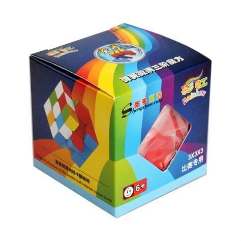 Rubik Rainbow Cube Merk Yongjun cubo rubik shengshou 3x3 rainbow speed cube puzzle 3d 99 00 en mercadolibre