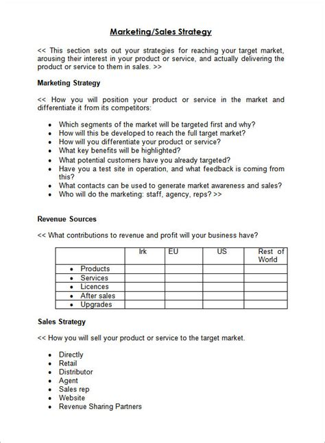 example of sales business planbesidesbusiness plan template word