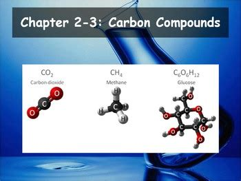 Section 2 3 Carbon Compounds by Biology 2 3 Carbon Compounds Powerpoint And Guided