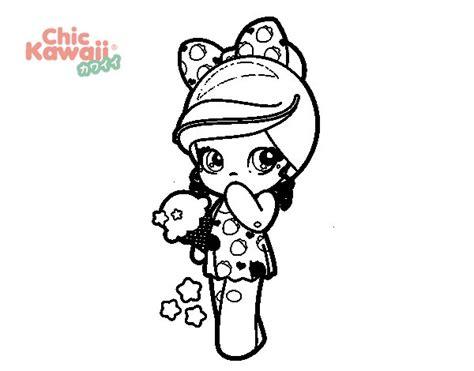imagenes de helados kawaii para dibujar dibujo de ni 241 a kawaii con un helado para colorear