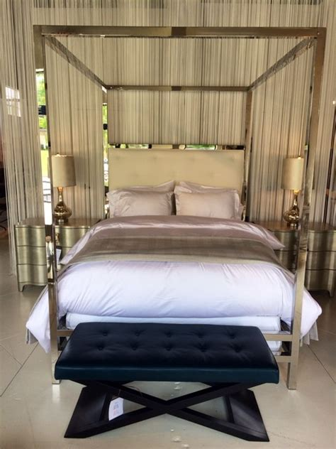 contemporary canopy beds polished stainless steel canopy bed contemporary