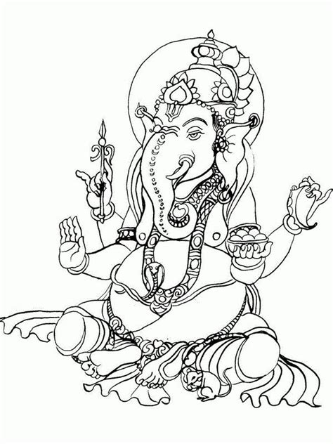 hindu elephant coloring pages  getcoloringscom  printable colorings pages  print