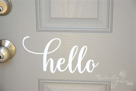 Door Decal by Hello Front Door Decal Hello Front Door Sticker Hello Vinyl