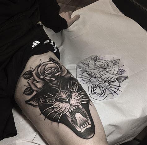 black rose tattoos tumblr panther and