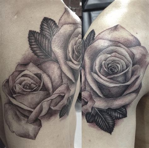 black rose tattoo anderson in 3d flower tattoos in black and white