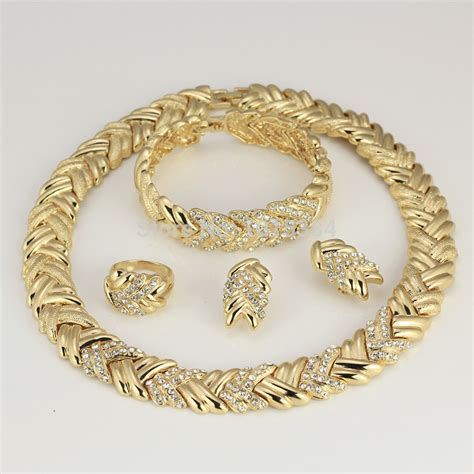 new pattern gold jewelry wholesale 2015 new pattern jewelry sets necklace ring