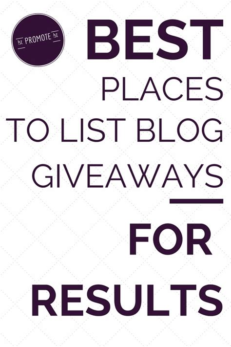 Blog Contests And Giveaways - best places to list blog giveaways and contests for free