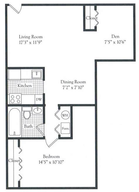den floor plan one bedroom with den parke crescent apartments