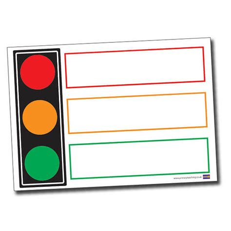 traffic light poster for classroom traffic light plastic poster a1 write and wipe