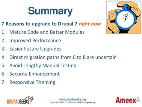 7 Reasons To Update Your Work Out by 7 Reasons To Upgrade To Drupal 7 Right Now Drupal Geeks