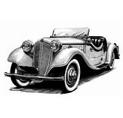Classic Cars Drawings In